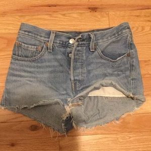 Levi's cut off shorts